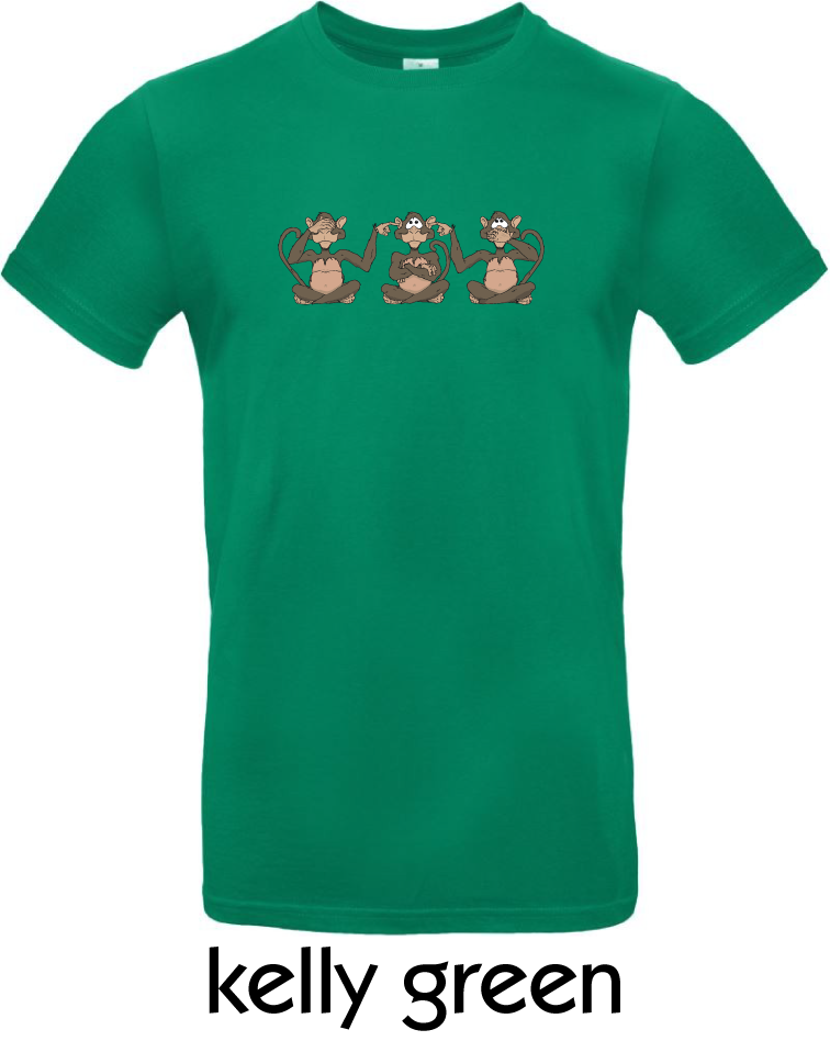 T-Shirts - BC-E190-Affen-kelly-green.png