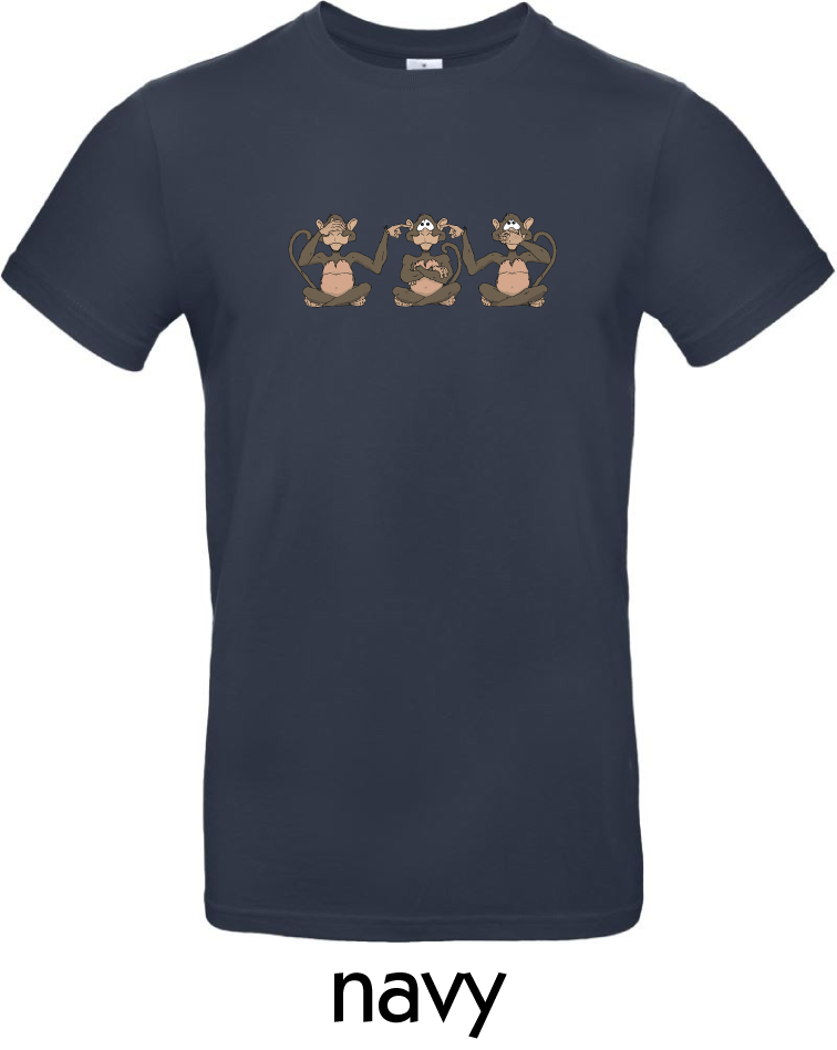 T-Shirts - BC-E190-Affen-navy.png