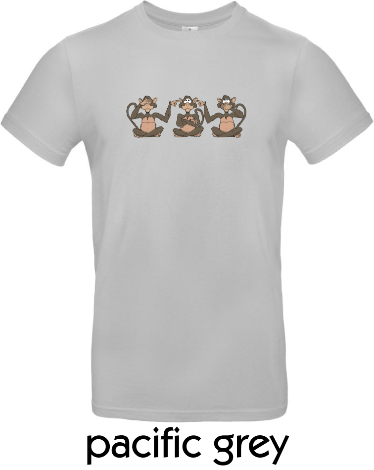 T-Shirts - BC-E190-Affen-pacific-grey.png