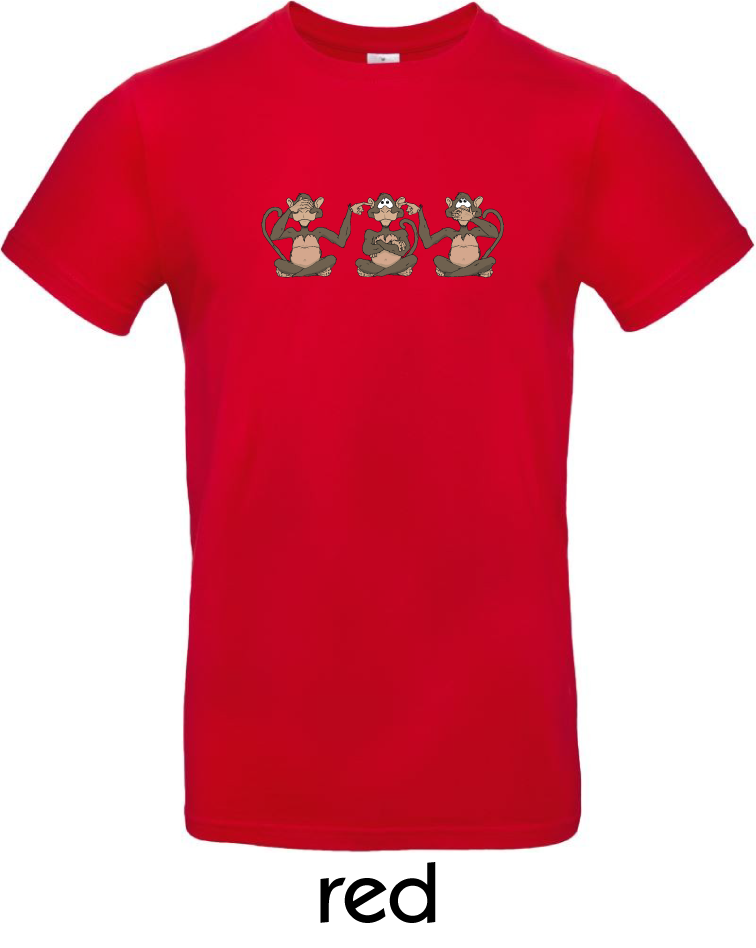 T-Shirts - BC-E190-Affen-red.png