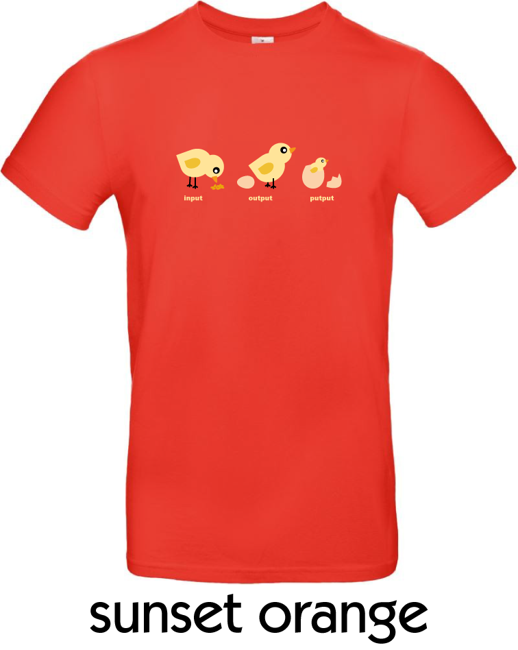 T-Shirts - BC-E190-Input-Output-Putput-sunset-orange.png