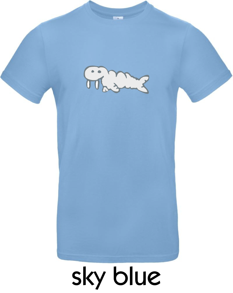 T-Shirts - BC-E190-Walross-sky-blue.png
