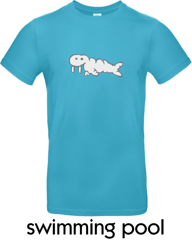 T-Shirts - BC-E190-Walross-swimming-pool.png