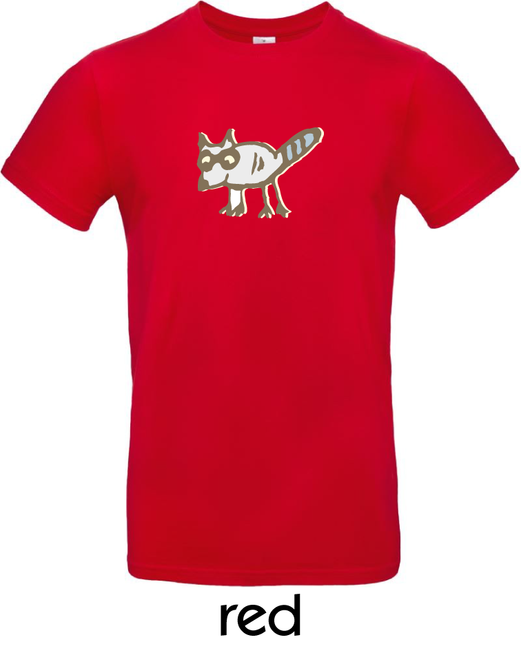 T-Shirts - BC-E190-Waschbär-red.png