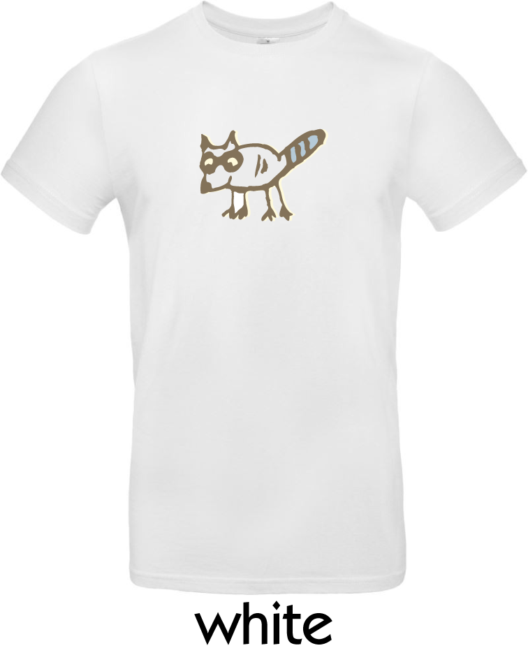 T-Shirts - BC-E190-Waschbär-white.png